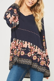 Promesa USA Floral Peasant Blouse - Front full body
