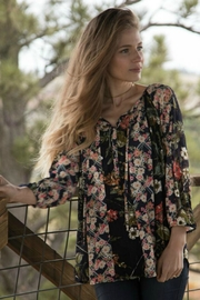 Olive Hill Floral Peasant Blouse - Product Mini Image