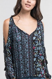 Love Stitch Floral Peasant Top - Product Mini Image
