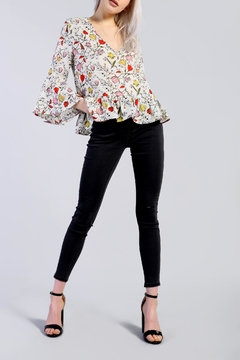 Glamorous Floral Peplum Top - Product List Image