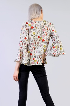 Glamorous Floral Peplum Top - Alternate List Image