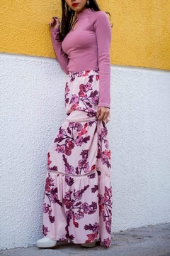 Shoptiques Product: Floral Pink Skirt