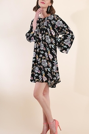 Umgee USA Floral Pleated Dress - Product Mini Image