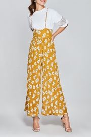 Few Moda Floral Pleated Jumpsuit - Front full body