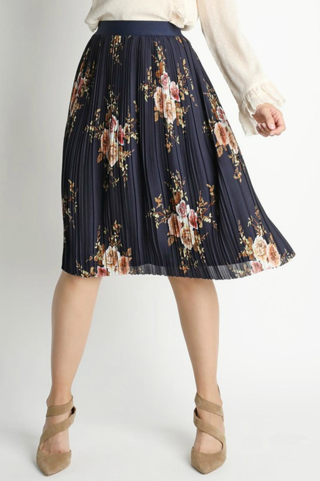02b14a55ba89 Skies Are Blue Floral Pleated Skirt from Alaska by Apricot Lane ...