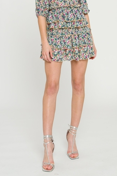 FREE THE ROSES Floral Pleated Skirt - Product List Image