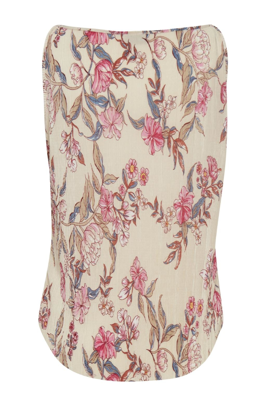 B.young Floral Pleated Tank - Front Full Image
