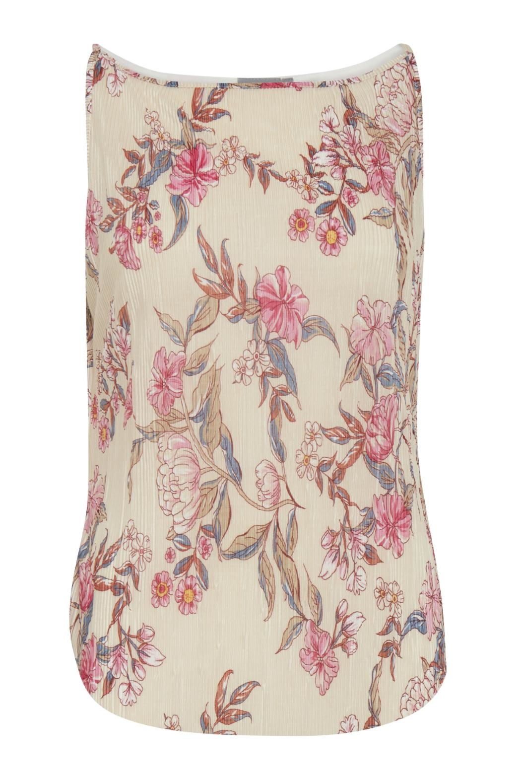 B.young Floral Pleated Tank - Main Image