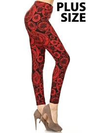 Love It Floral Plus-Size Leggings - Product Mini Image