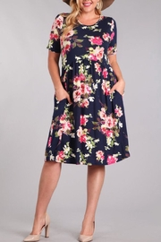 Chris & Carol Floral Pocketed Dress - Product Mini Image