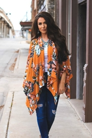 L & B Floral Poncho - Front cropped