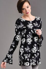 Giftcraft Inc.  Floral Print Bell L/S Top - Product Mini Image