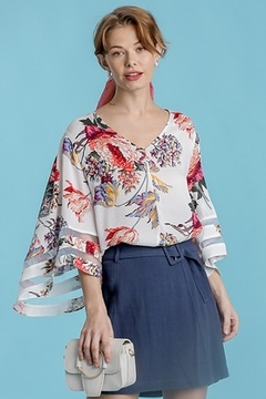 Umgee  Floral Print Bell Sleeve - Product List Image