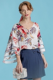 Umgee  Floral Print Bell Sleeve - Product Mini Image