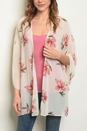 Lyn-Maree's  Floral Print Cardi - Front cropped