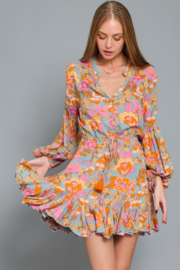 AAKAA Floral Print Dress - Front cropped