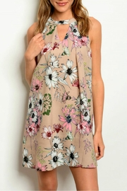 LoveRiche Floral Print Dress - Product Mini Image