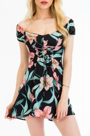 Olivaceous Floral Print Dress - Product Mini Image