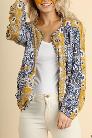 Umgee USA Floral Print Jacket - Front cropped