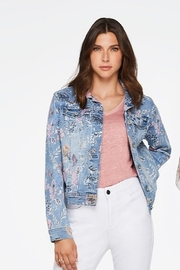 Charlie B Floral Print Jean Jacket - Product Mini Image
