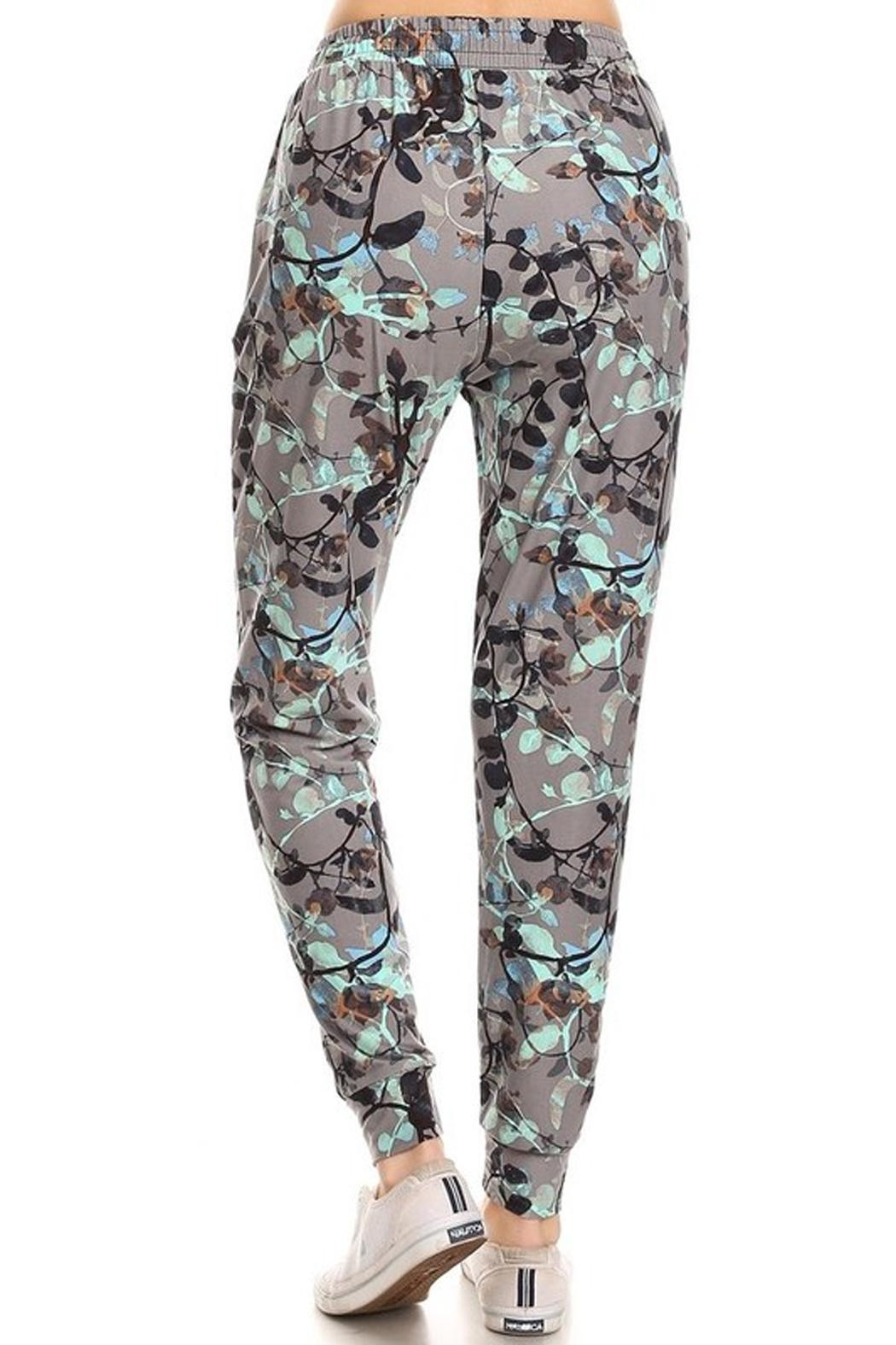 New Mix Floral Print Joggers - Front Full Image