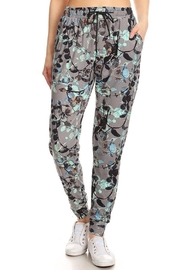 New Mix Floral Print Joggers - Front cropped