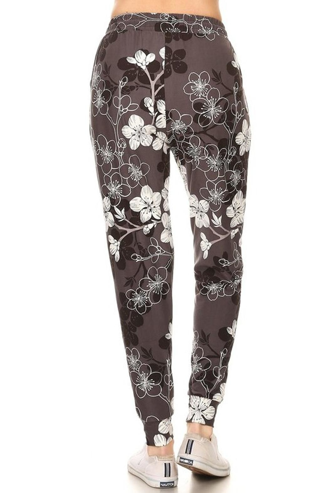 New Mix Floral Print Joggers - Side Cropped Image
