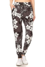 New Mix Floral Print Joggers - Front full body