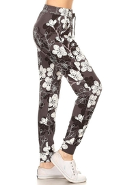 New Mix Floral Print Joggers - Product Mini Image