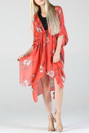Angie Floral Print Kimono - Front cropped