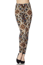 New Mix Floral Print Legging - Product Mini Image