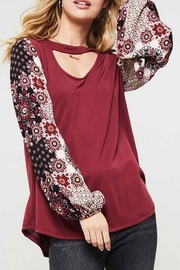 Promesa USA Floral Print Long-Sleeve - Product Mini Image