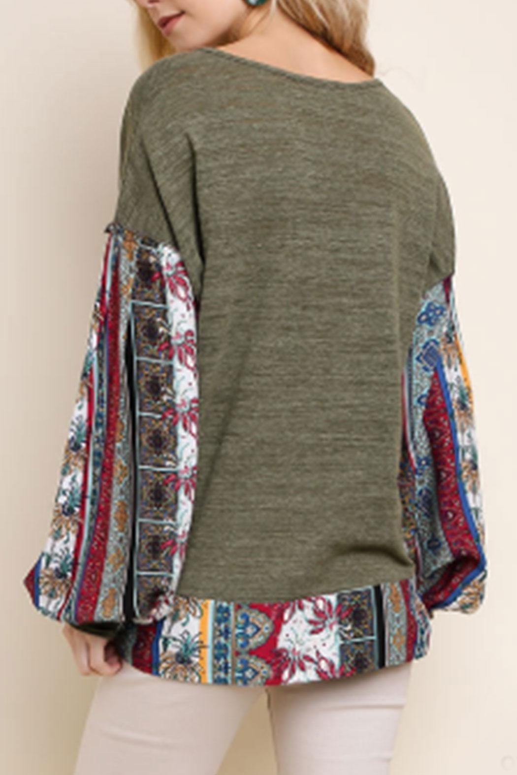 Umgee USA Floral-Print Long Sleeve - Front Full Image