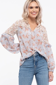 Shoptiques Product: Floral Print Long Sleeve Top