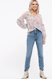 blu Pepper  Floral Print Long Sleeve Top - Product Mini Image