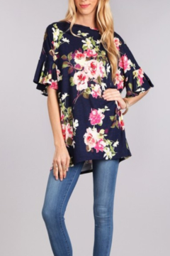 Chris & Carol Apparel Floral print long tunic - Alternate List Image