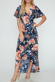 Peach Love California Floral Print Maxi - Product Mini Image