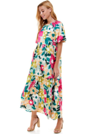 TCEC Floral Print Maxi Dress - Side cropped