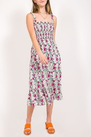 Very J Floral Print Midi Dress - Front cropped