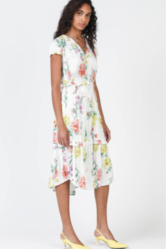 Current Air Floral Print Midi Dress with a Soft Crinkle Texture - Product List Image
