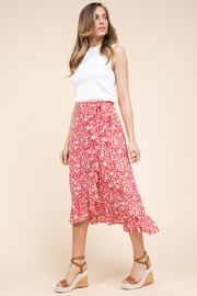 Gilli  Floral Print Midi Wrap Skirt - Product Mini Image