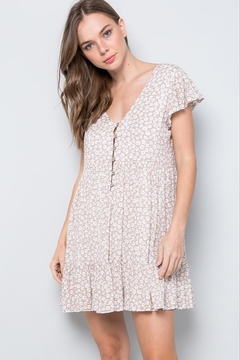 Sweet Lovely Floral Print Mini Dress - Product List Image