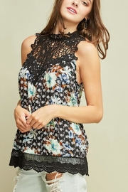 Entro Floral Print Mock-Neck - Product Mini Image