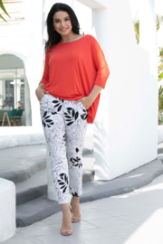 Orange Fashion Village Floral Print Pant - Product Mini Image