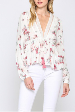 Fate Floral print peplum top - Product List Image