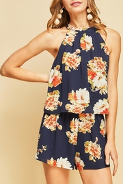 Entro Floral Print Romper - Front full body