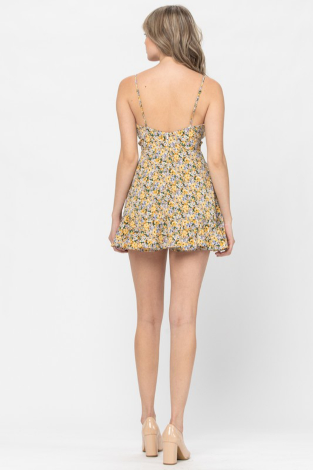 the clothing company Floral Print Romper - Front Full Image