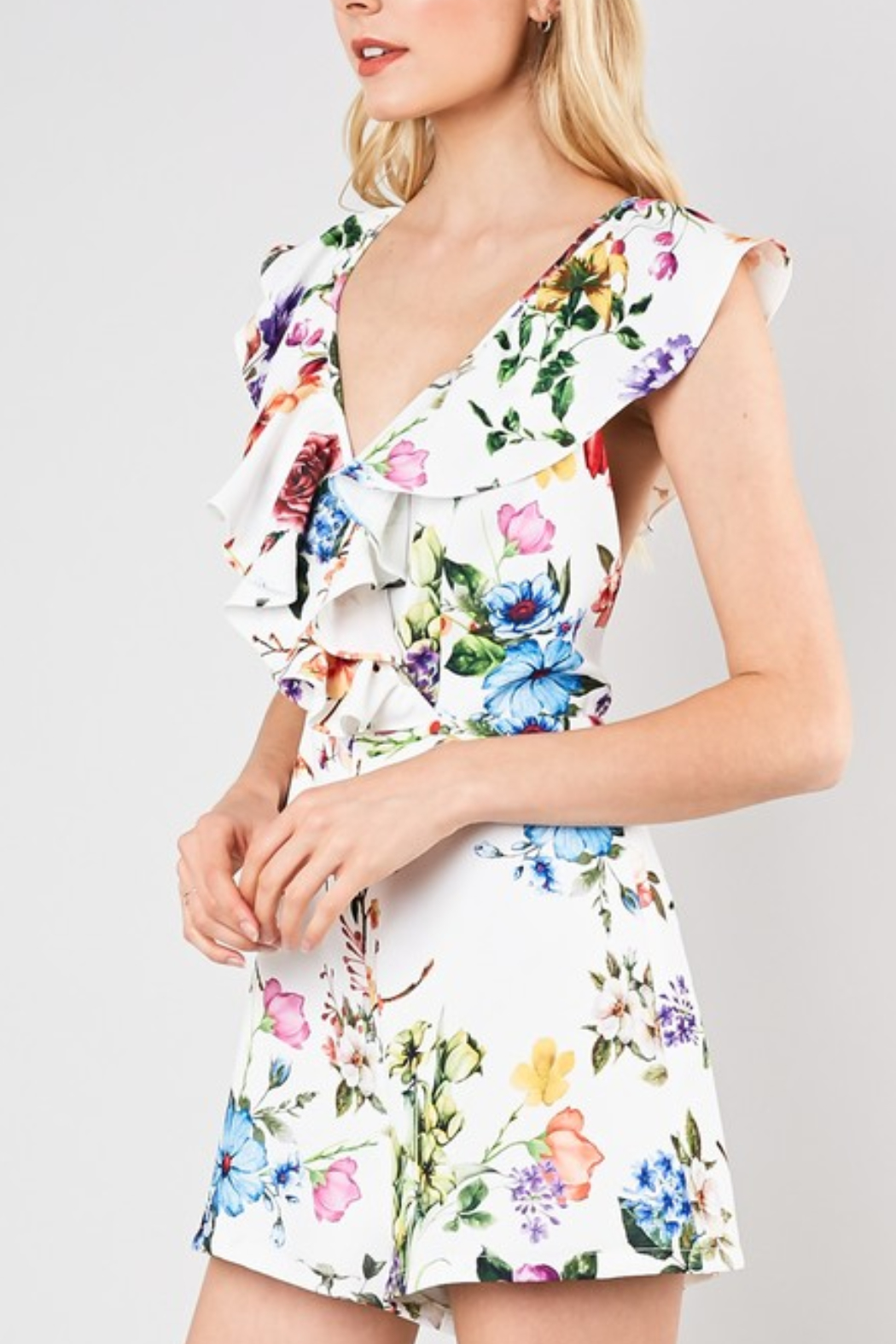 Do & Be Floral Print Romper - Main Image