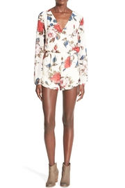 Hommage Floral Print Romper - Product Mini Image