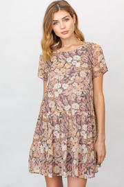 Gilli  Floral Print Ruffle Dress - Product Mini Image